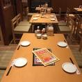 各種テーブル席を取り揃えています。貸切をご希望の際はお気軽に店舗にお問い合わせください。