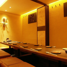 人気の個室は大小様々御用意しております。