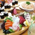 当店では沖縄の食材を使った美味しく新しい料理をみなさんにリーズナブルな価格でご提供しております。沖縄北部の近海でとれた新鮮な魚介が自慢!是非お刺身やお寿司をお召し上がりください。