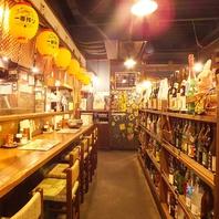 レトロな雰囲気が自慢のアットホームなお店。
