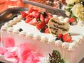 系列店TAPIOのパティシエによるオリジナルケーキでお祝い!