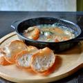 料理メニュー写真エビと牡蠣のアヒージョ