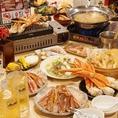 蟹だけでなく日替わりメニューも盛り沢山♪お肉・お魚・揚物・お寿司etc…♪サクサク揚げたて天ぷらは絶品!宴会にデートにもちろんご家族様も大歓迎です!