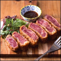 ■牛レアかつが絶品!肉料理をご堪能下さい!