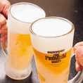 2時間飲み放題は生ビールもOK♪プレミアムモルツや黒霧島、鳥飼などの銘柄焼酎、さらに銘柄の日本酒まで飲み放題充実した50種以上のドリンクをご用意♪心ゆくまで無制限の食べ放題・飲み放題をお楽しみくださいませ! ご予約お待ちしております。