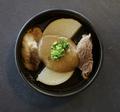 料理メニュー写真大根と牛すじ肉 ポルチーニソース