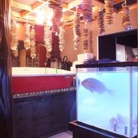店内には生簀&水槽を完備で新鮮魚介をご提供!!