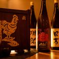 ◆日本酒にこだわる◆「獺祭」「醸し人九平次」など、当店は日本酒好きからの人気がとくに高い厳選された全国の地酒を揃えています。地鶏料理を引き立てます。