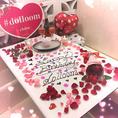 フラワーアートテーブルアート!使った生花は全てお持ち帰り可能で入浴剤や装飾にご利用ください。