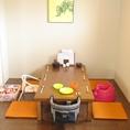 お子様椅子やダンボもご用意しております。ご家族のお食事にもどうぞ◎