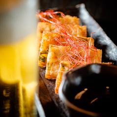 料理メニュー写真タコとニラのチヂミ