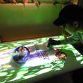 プロジェクションマッピングテーブルアートはCG,音楽に合わせてテーブルアートを行わせて頂きます。