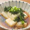 料理メニュー写真あおさ海苔たっぷりの揚げ出し豆腐