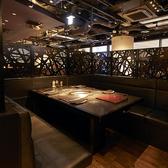 【半個室3~4名様×3部屋・4~6名様×1部屋】半個室席も大変人気が高いお席です。お早目のご予約をお勧めしております。