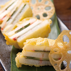 料理メニュー写真長芋とチーズ挟み揚げ