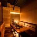 ◆くつろぎ空間◆落ち着いた雰囲気の和の空間には、小人数向けのお席もご用意しています。会社帰りに気の合う同僚と1杯などあらゆるシーンでご活用ください。