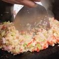 【美味しいもんじゃの作り方】キャベツがしんなりするまで炒めて・・・