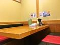 4人用のテーブル席があります。家族連れやお仕事帰りでもお気軽にお越しいただけるお店です♪ お詰めになると6人座ることできます。
