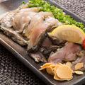 料理メニュー写真地頭鶏タタキ風(もも・むね)