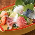 料理メニュー写真鮮魚盛り合わせ 5種
