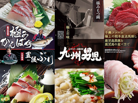 【MENU&コースリニューアル】もつ鍋/馬刺/刺身など九州名物を堪能♪新年会にオススメ!