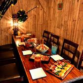 【4Fテーブル席】カリフォルニア調のゆったりテーブル席♪お二人様から貸切30名様少人数宴会承ります♪【宴会・飲み会・歓送迎会・女子会・誕生日会・記念日・同窓会・合コン・二次会・ママ会・オフ会・忘年会・新年会・貸切】