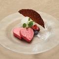 料理メニュー写真ラブラブ苺の冷たいムース