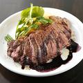 料理メニュー写真牛ハラミのグリル 赤ワインソースで