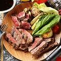 料理メニュー写真国産和牛のサーロインステーキ