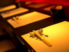 【カウンター】個室感覚の、仕切られた特別空間。デート、女子会など、いつもと一味違った雰囲気でお食事を楽しみたい方に◎