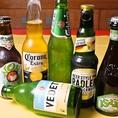 世界のビールや話題のクラフトビール等も厳選してセレクト。ピッツァとの相性抜群です。