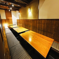 会社宴会や大型宴会にピッタリ10~20名様向け個室完備!
