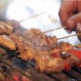 ※厳選した備長炭による炭火焼  炭からの遠赤外線により素材を活かしたまま中まで美味しく焼けます。
