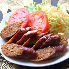 料理メニュー写真サイウア (チェンマイ地方のソーセージ)