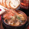 料理メニュー写真海老とマッシュルーム