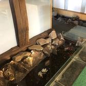 店内に池があり金魚がいます☆