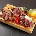 料理メニュー写真3種の和牛ステーキプレート
