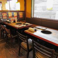 テーブルは16名、掘りごたつは18名様OK!団体予約も歓迎!