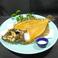料理メニュー写真ヒラメの骨せんべい(後づくり)