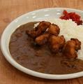 料理メニュー写真から揚げカレー(3個)