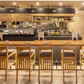 【カウンター席】カウンターから見える臨場感ある空間は当店の自慢です。おしゃれな空間は、デートや1人飲みに最適。
