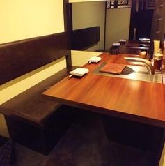 個室タイプの2名様用のカップルシート