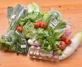 採れたての季節の素材をふんだんに使います。写真は全て岡山県内の高校生が育てた野菜です!