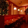 仲間内の飲み会や合コンなどに最適なお席/こちらのお席は最大14名様迄収容可能な肉好きによる肉好きの為のお席です♪