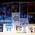 インテリアもオシャレに♪壁一面にクラフトビアのオシャレなポスター等貼っています!!谷町/宴会/飲み放題/クラフトビール/スペアリブ/宴会/女子会/ビール