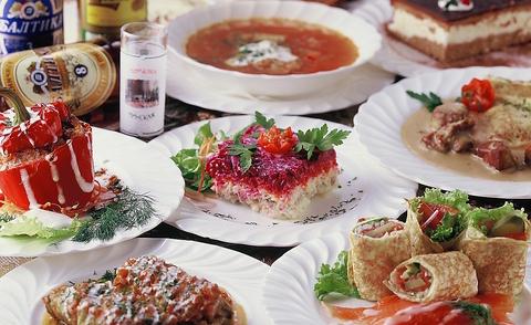 日本で唯一のベラルーシ料理専門店。野菜をたっぷり使うヘルシー料理の数々を是非!