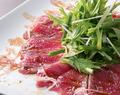 料理メニュー写真九条葱と水菜の鮮魚カルパッチョ
