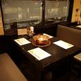 4席のテーブルは4卓ご用意があります♪みんなでお鍋を囲めば話も弾むことまちがいなし♪