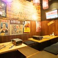 飯田橋近くの海鮮居酒屋◆落ち着いた掘りごたつ席