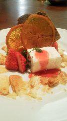 料理メニュー写真レアチーズケーキ